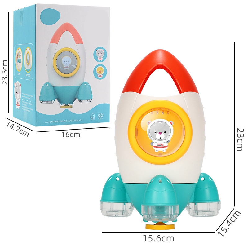 Children-039-s-Bathroom-Water-Spray-Rocket-Toy-Fountain-Rotating-Water-Spray-To-X3J3 thumbnail 9