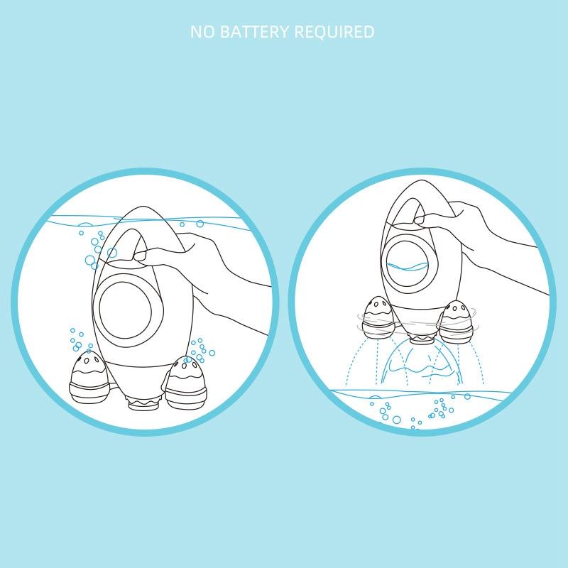 Children-039-s-Bathroom-Water-Spray-Rocket-Toy-Fountain-Rotating-Water-Spray-To-X3J3 thumbnail 14