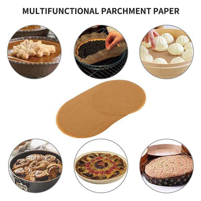3X-200-Pcs-9-Inches-Unbleached-Paper-Baking-Sheets-Round-Perfect-for-Baking-O5X4 miniatuur 4