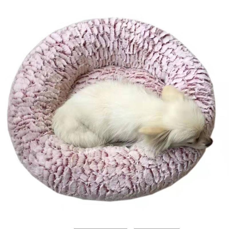 Indexbild 4 - Haustierbett für Hunde Katzen PlüSch Ideen Hundebett Komfortable Runde Z3Q1