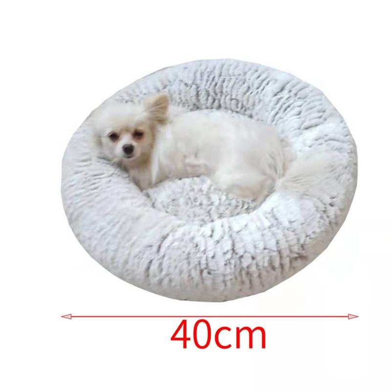 Indexbild 10 - Haustierbett für Hunde Katzen PlüSch Ideen Hundebett Komfortable Runde Z3Q1