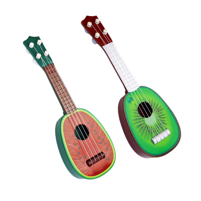 miniature 3 - BéBé Enfants ÉDucatifs Instrument de Musique Jouet Guitare en Gros Fruits G C7Y3