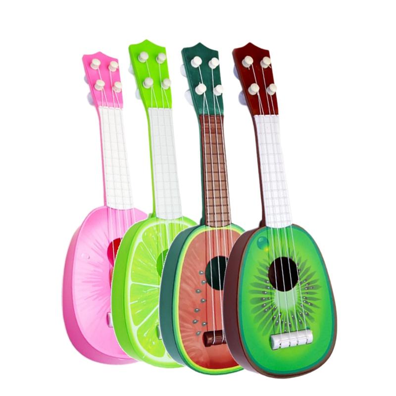 miniature 25 - BéBé Enfants ÉDucatifs Instrument de Musique Jouet Guitare en Gros Fruits G I7X4