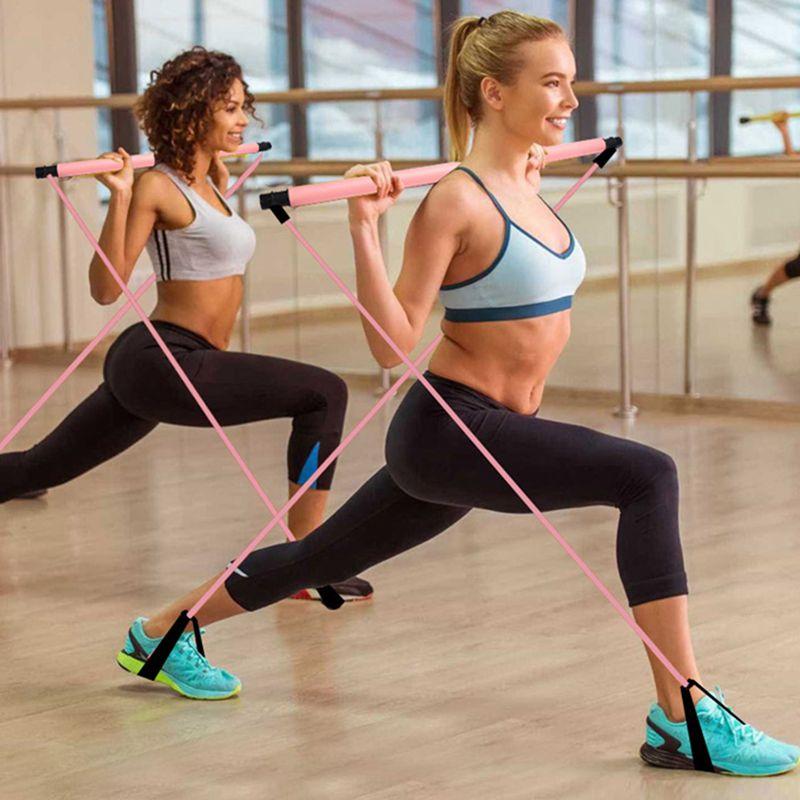 3X-Pilates-Exercise-Stick-Toning-Bar-Fitness-Home-Yoga-Gym-Body-Workout-Bod-H5J3 miniatuur 2