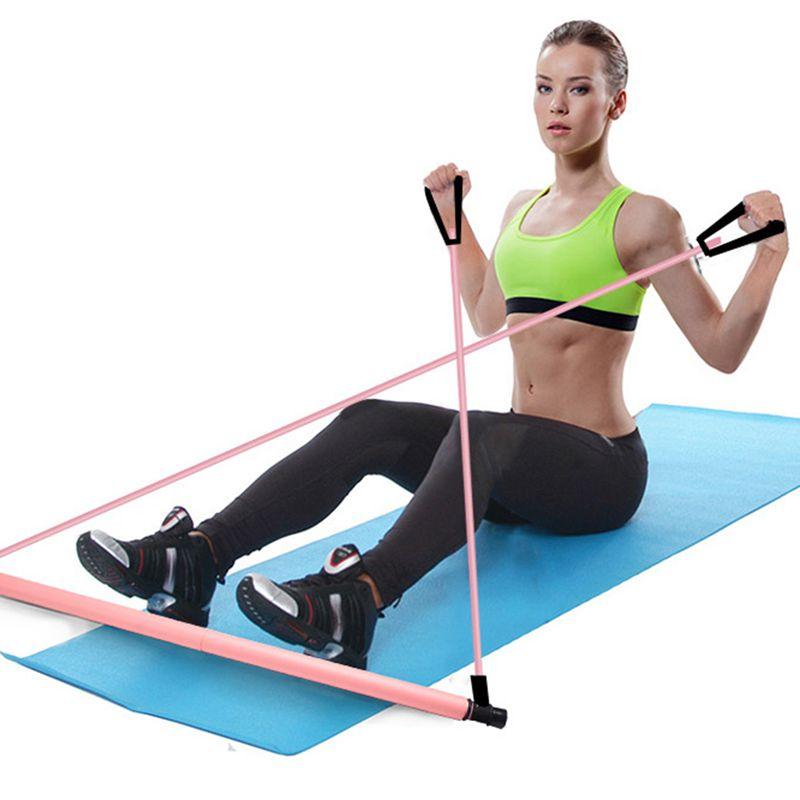3X-Pilates-Exercise-Stick-Toning-Bar-Fitness-Home-Yoga-Gym-Body-Workout-Bod-H5J3 miniatuur 3