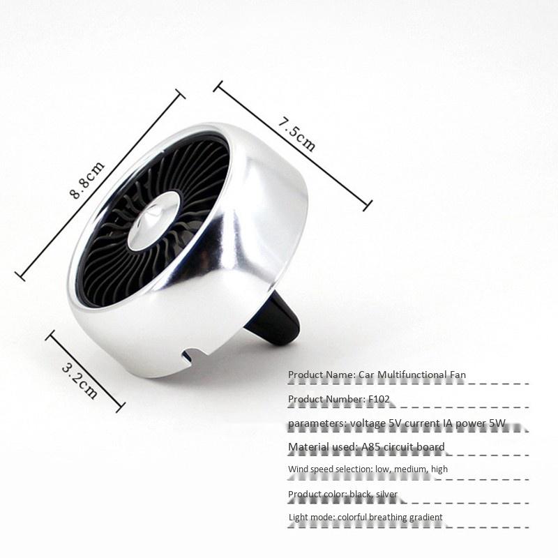 Fournitures-de-Voiture-Usb-Ventilateur-de-Voiture-Climatiseur-Colore-Tablea-A9T2 miniature 3