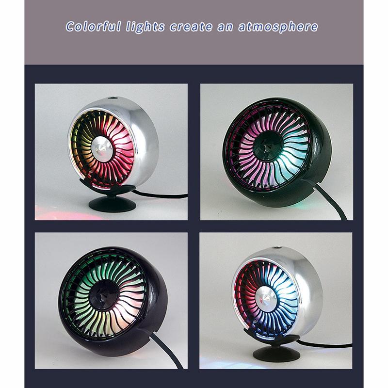 Fournitures-de-Voiture-Usb-Ventilateur-de-Voiture-Climatiseur-Colore-Tablea-A9T2 miniature 4