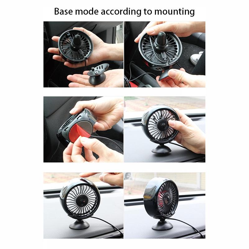 Fournitures-de-Voiture-Usb-Ventilateur-de-Voiture-Climatiseur-Colore-Tablea-A9T2 miniature 15