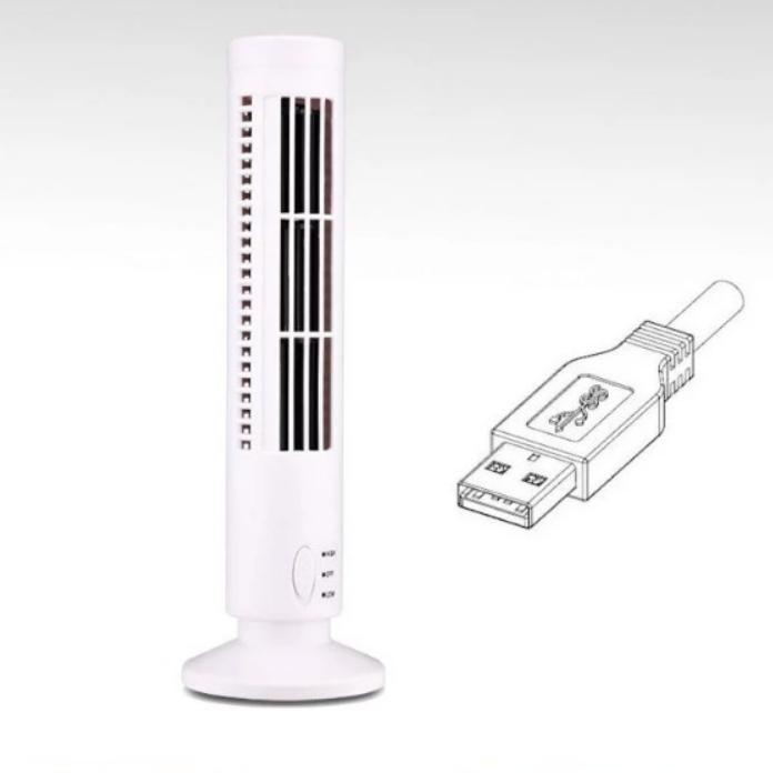 USB-Sans-Feuilles-Petite-Tour-de-Ventilateur-Ventilateur-eLectrique-Ventila-N6D2 miniature 7