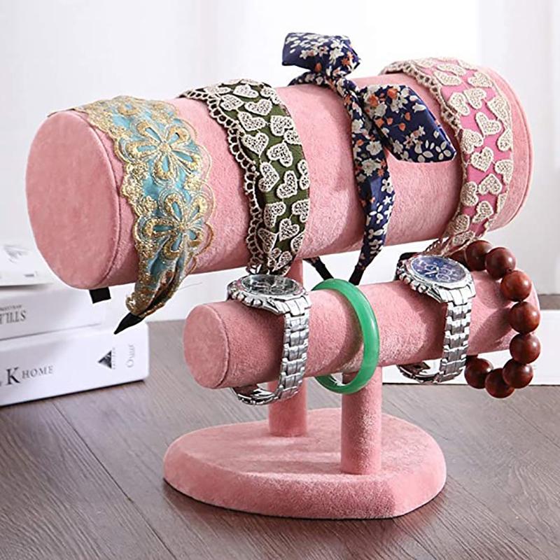 Indexbild 5 - 1X-Schmuck-Display-Rack-HerzfoeRmiges-Stirnband-Armband-Halskette-ZweistufigQ3Y3
