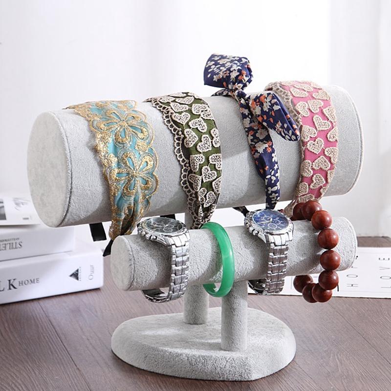 Indexbild 14 - 1X-Schmuck-Display-Rack-HerzfoeRmiges-Stirnband-Armband-Halskette-ZweistufigQ3Y3