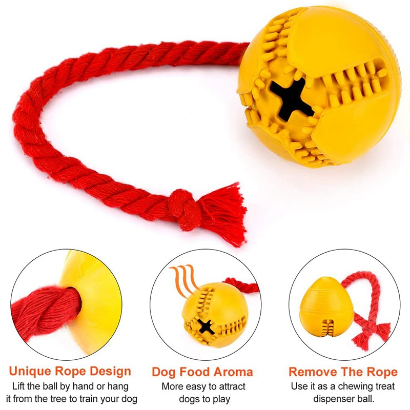 thumbnail 5 - Dog Jolly Ball ,Ball Rubber Chewing Interactive Dog Toy Super Tough Tooth C X4D7