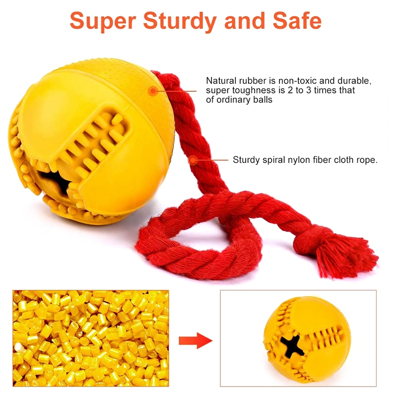 thumbnail 6 - Dog Jolly Ball ,Ball Rubber Chewing Interactive Dog Toy Super Tough Tooth C X4D7