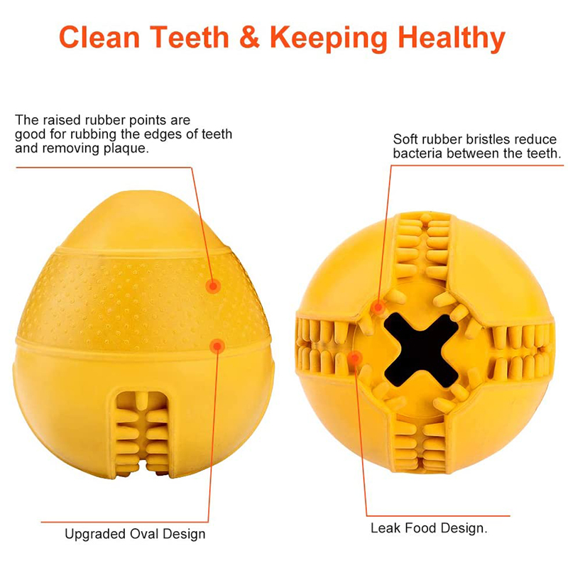 thumbnail 7 - Dog Jolly Ball ,Ball Rubber Chewing Interactive Dog Toy Super Tough Tooth C X4D7