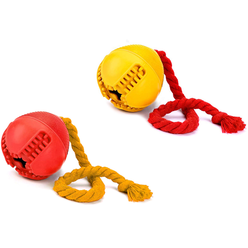 thumbnail 9 - Dog Jolly Ball ,Ball Rubber Chewing Interactive Dog Toy Super Tough Tooth C X4D7