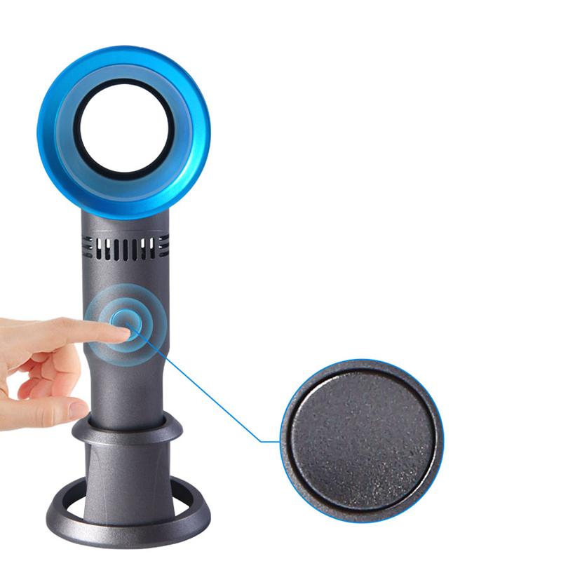 3X-Bladeless-Fan-USB-Rechargeable-Handheld-Mini-Cooler-Portable-No-Leaf-Han2F1 thumbnail 13