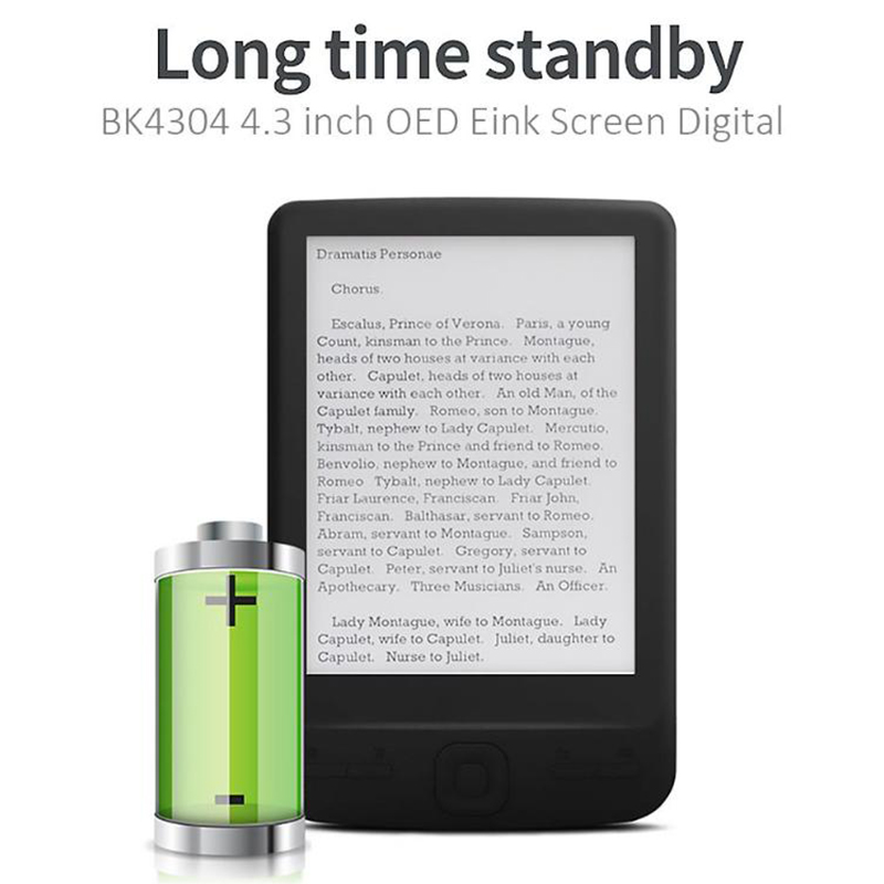 4-3-Inch-E-Ink-Ebook-Reader-800X600-Ereader-Electronic-Paper-Book-with-Fron-G8S9 thumbnail 4