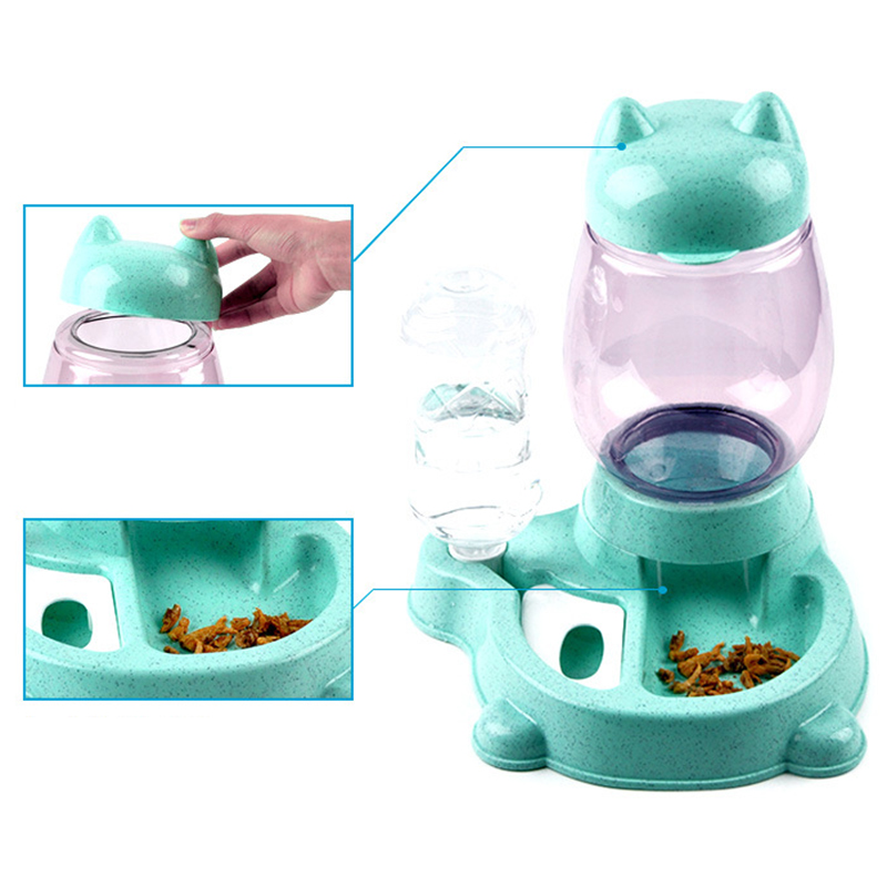 thumbnail 9 - Pet-Automatic-Feeder-Cat-Dog-Food-Dispenser-Water-Drinking-Bowl-Feeding-Dis-F9Z4
