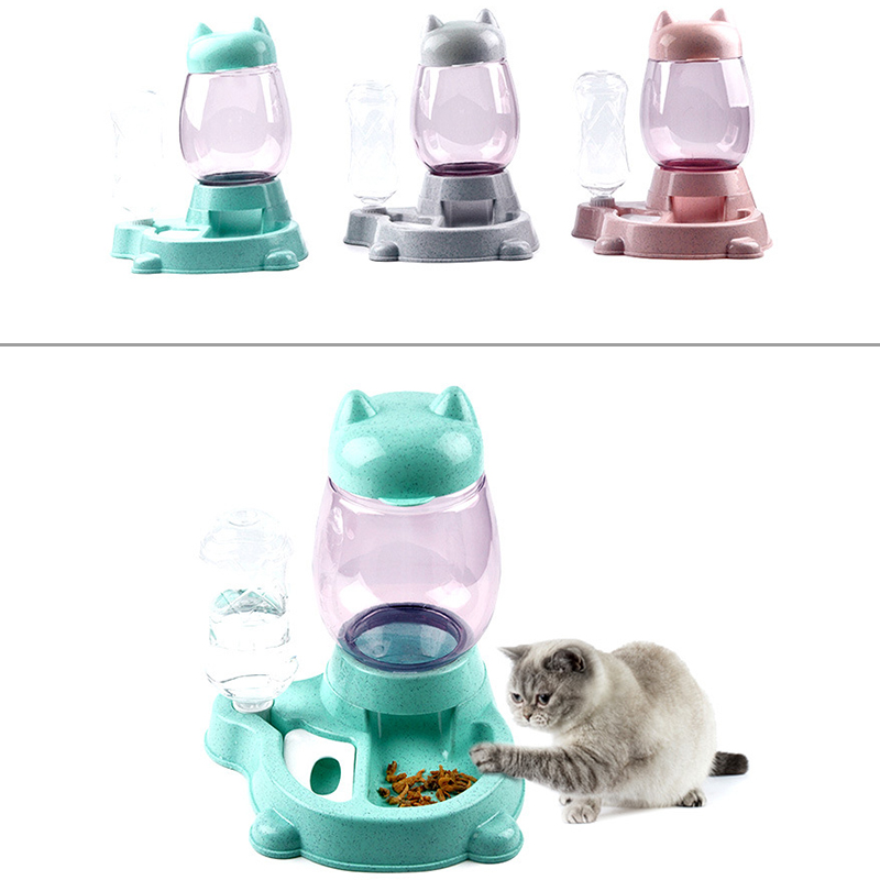 thumbnail 17 - Pet Automatic Feeder Cat Dog Food Dispenser Water Drinking Bowl Feeding Dis B8R9