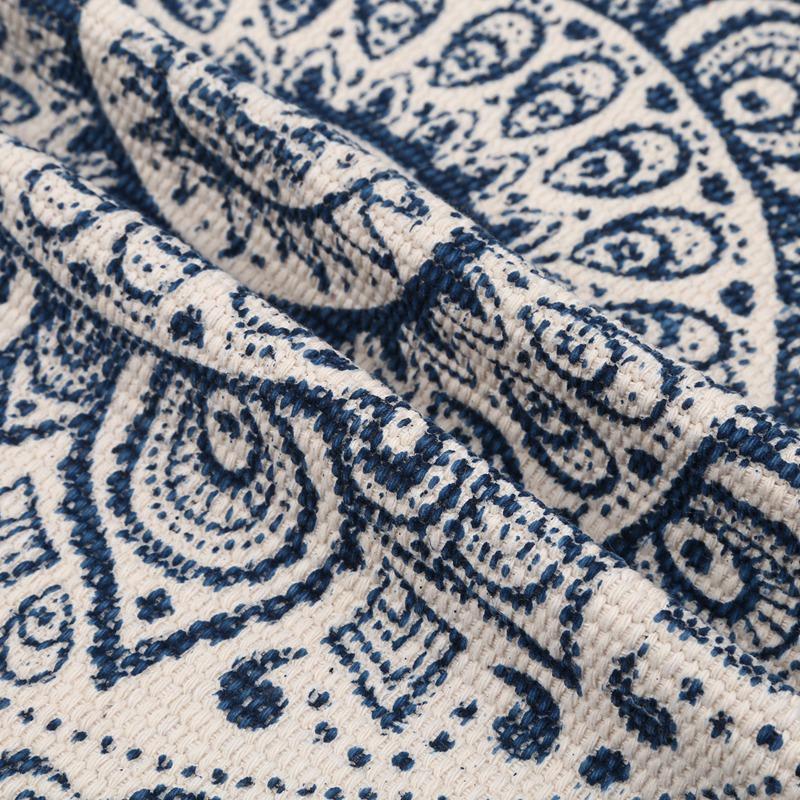 Morocco-Round-Carpet-Bedroom-Boho-Style-Tassel-Cotton-Rug-Hand-Woven-Nation-W5V4 thumbnail 17