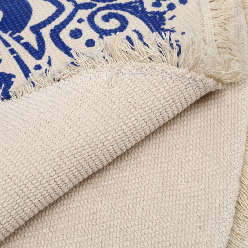 Morocco-Round-Carpet-Bedroom-Boho-Style-Tassel-Cotton-Rug-Hand-Woven-Nation-W5V4 thumbnail 27