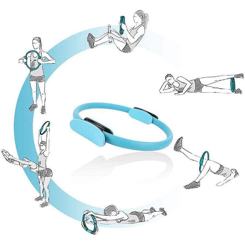 Pilates-Ring-Fitness-Magic-Pilates-Circle-Traje-de-Gimnasio-en-Casa-N5I5 miniatura 4