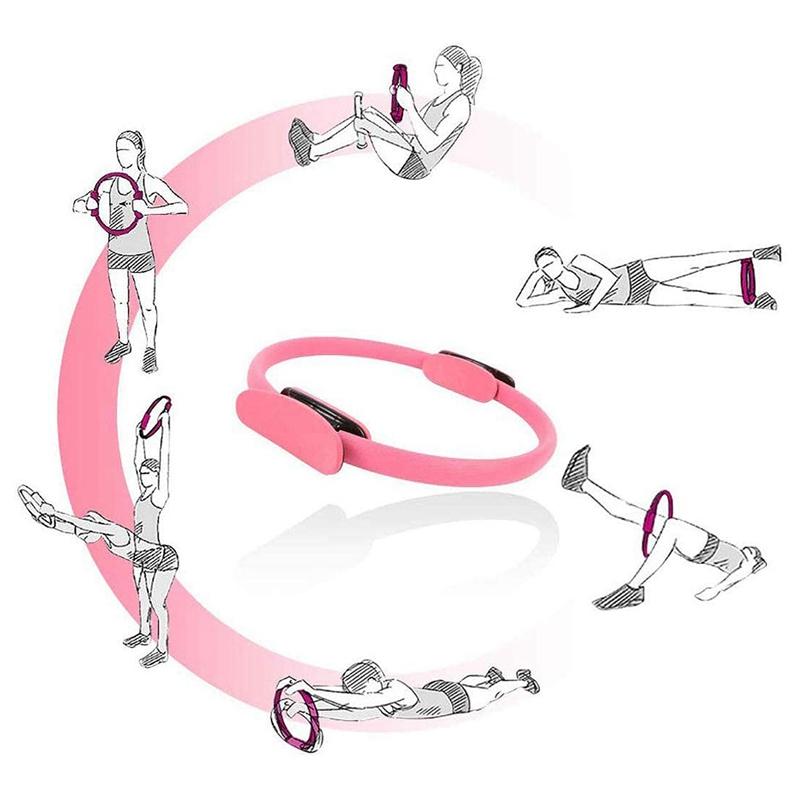 Pilates-Ring-Fitness-Magic-Pilates-Circle-Traje-de-Gimnasio-en-Casa-N5I5 miniatura 16