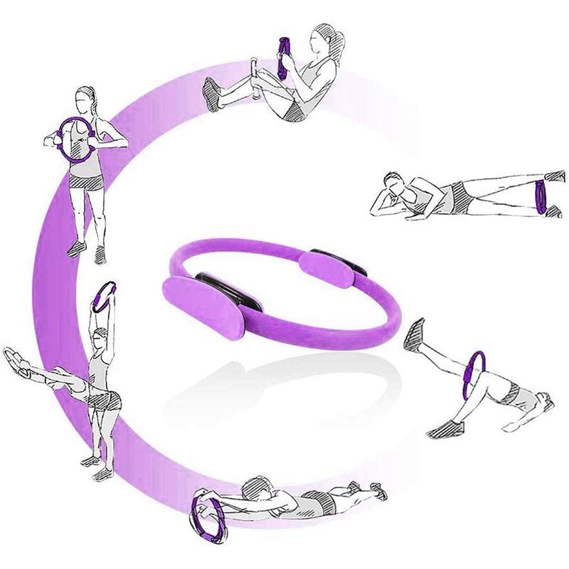 Pilates-Ring-Fitness-Magic-Pilates-Circle-Traje-de-Gimnasio-en-Casa-N5I5 miniatura 22