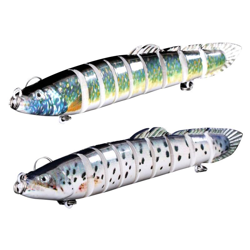 1x 5 pcs//lot fishing lure 9cm 8.3g minnow swim bait wobblers with hu2