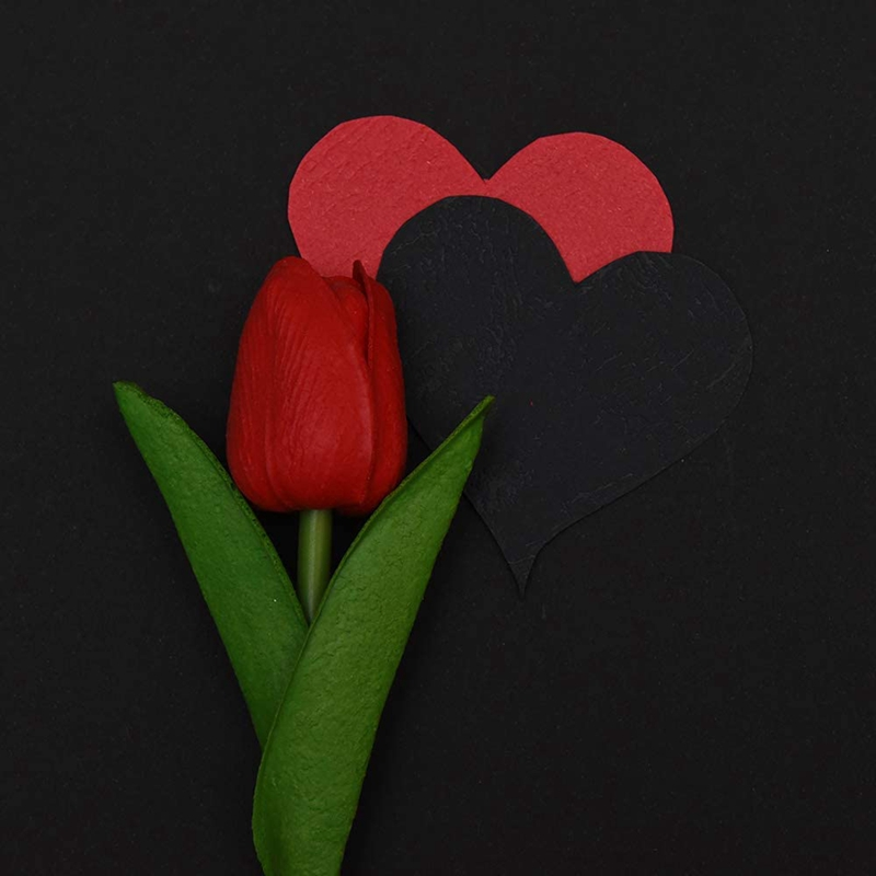 1X-24-Pezzi-di-Fiori-Artificiali-di-Tulipani-Steli-di-Tulipani-Finti-Tulipa-P3W1 miniatura 6