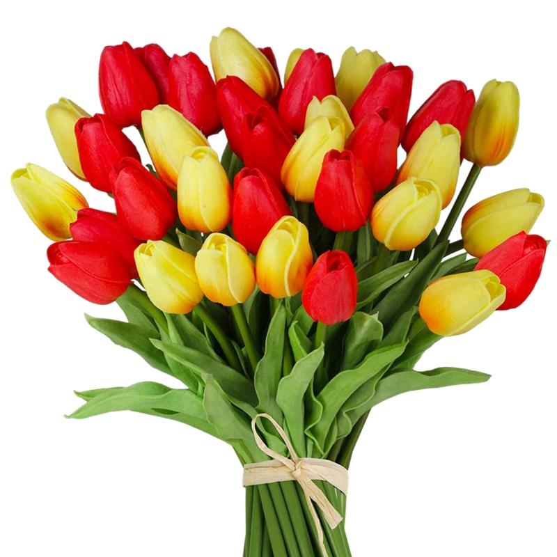 1X-24-Pezzi-di-Fiori-Artificiali-di-Tulipani-Steli-di-Tulipani-Finti-Tulipa-P3W1
