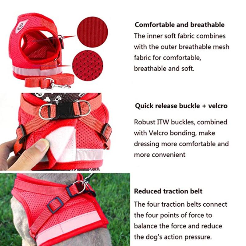 Indexbild 7 - 5X(Geschirr für Haustier Brustgeschirr Verstellbare Reflektierende Weste Wa F7L5