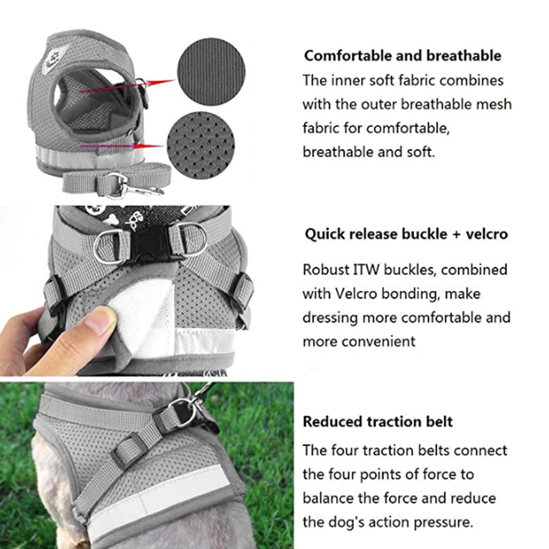 Indexbild 17 - 5X(Geschirr für Haustier Brustgeschirr Verstellbare Reflektierende Weste Wa F7L5
