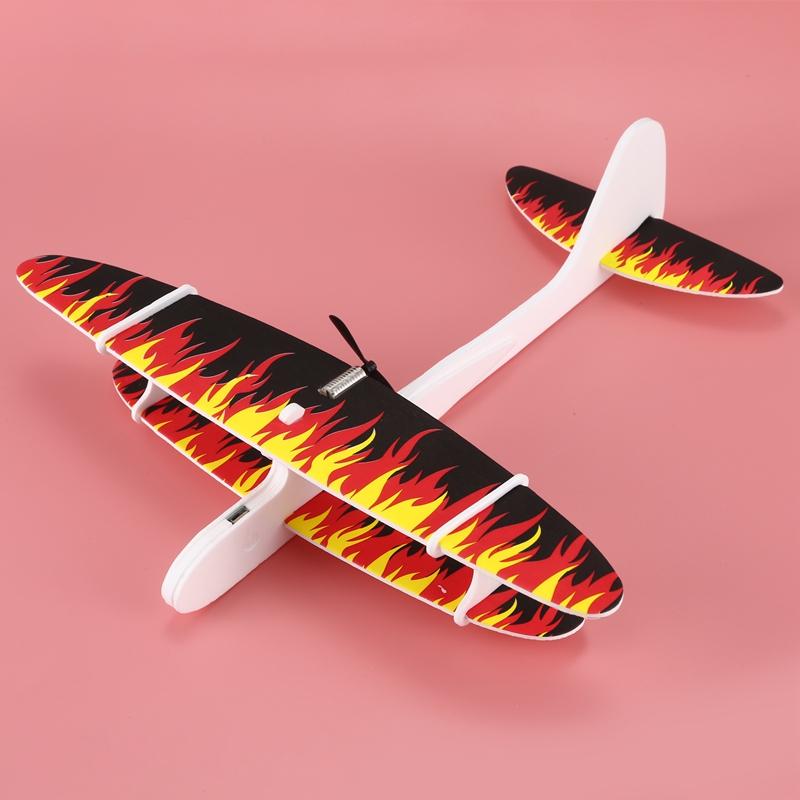 Avion-De-Espuma-De-Lanzamiento-A-Mano-Electrico-Avion-De-Carga-Usb-N4C8 miniatura 2