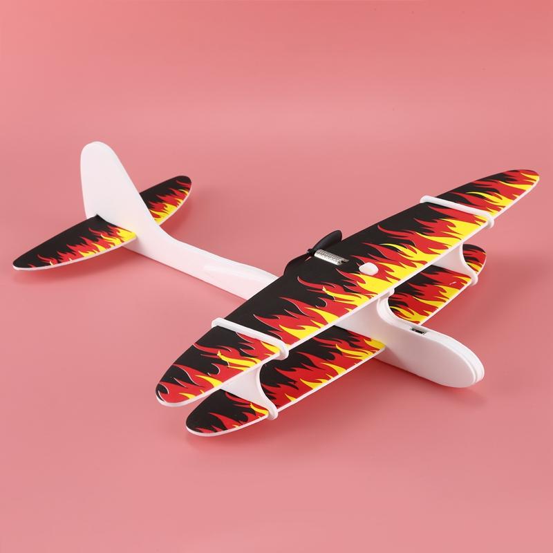 Avion-De-Espuma-De-Lanzamiento-A-Mano-Electrico-Avion-De-Carga-Usb-N4C8 miniatura 3