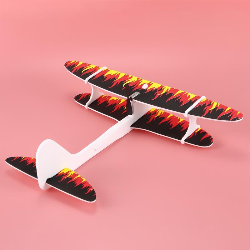 Avion-De-Espuma-De-Lanzamiento-A-Mano-Electrico-Avion-De-Carga-Usb-N4C8 miniatura 5