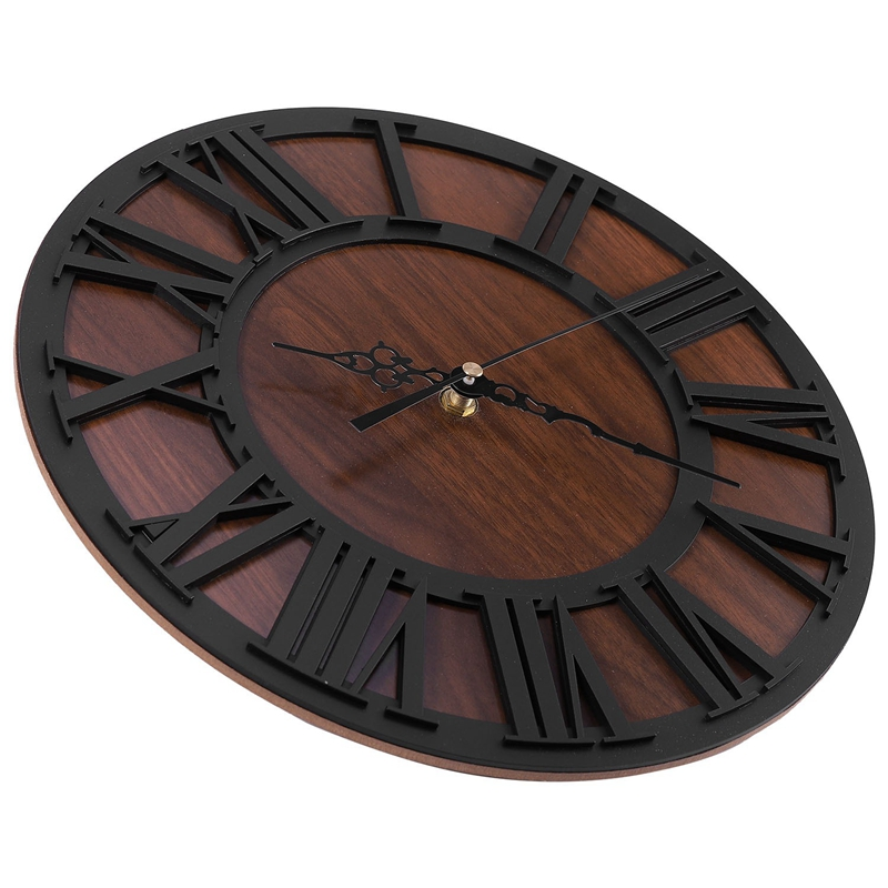 Wall Clock Modern Design Mechanism Vintage Digital Metal ...