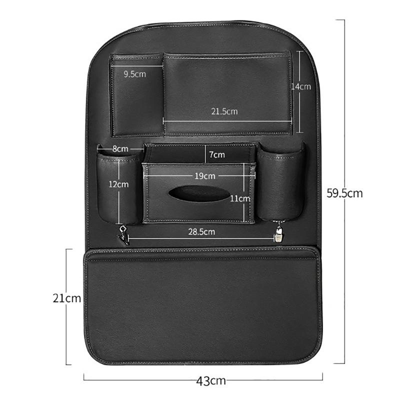 Car-Rear-Seat-Storage-Bag-Seat-Back-Bag-Garbage-Bag-Multifunctional-Rear-X1V7 thumbnail 2