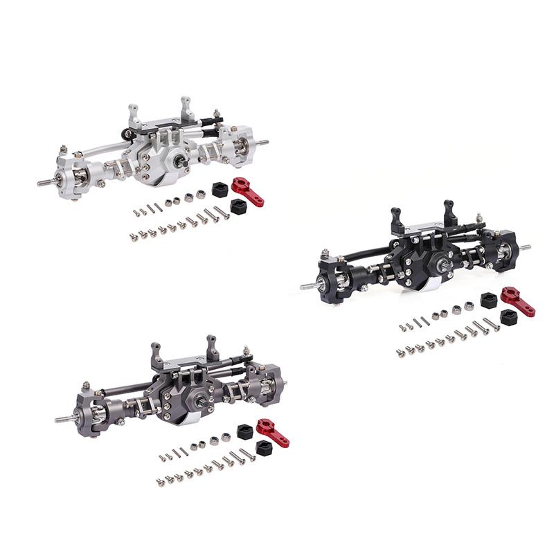 Ersatz Metall Zahnradsatz für RC 1//10 Vorderachse Axial SCX10II AX90046 schwarz
