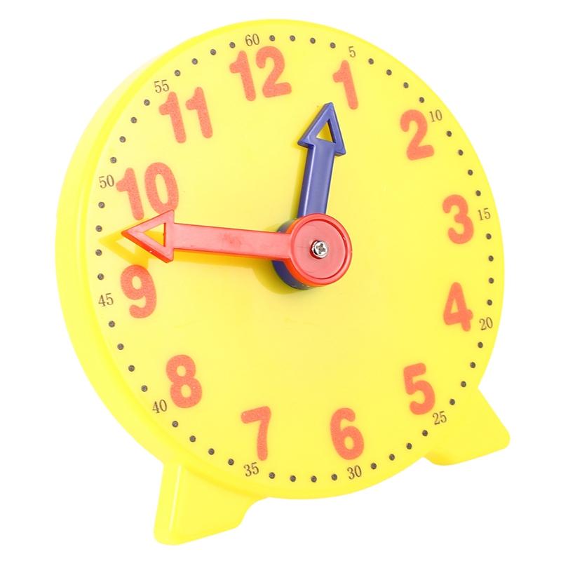 2X 4 Zoll SchüLer Lernen Uhrzeit Model Lehrer Gear Uhr 12//24 Stunden Schule I1K2