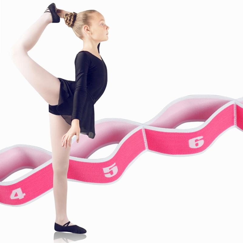 2 StüCk Yoga Dehnen Belt Fitness Yoga Pilates Gummi Band 8 Loop Elastisch N L4V9