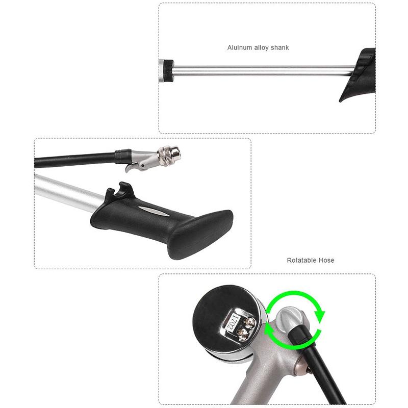 thumbnail 8 - 20X(GIYO 300 PSI Air Inflator Bicycle Bike Pump Fork Shock Psi/Bar Gauge Bleeder