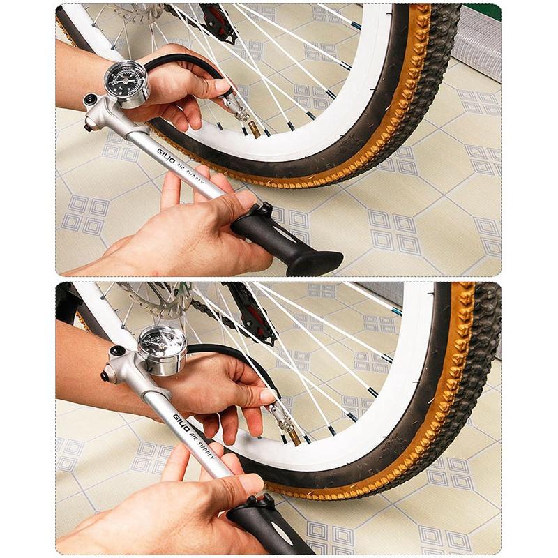 thumbnail 9 - 20X(GIYO 300 PSI Air Inflator Bicycle Bike Pump Fork Shock Psi/Bar Gauge Bleeder
