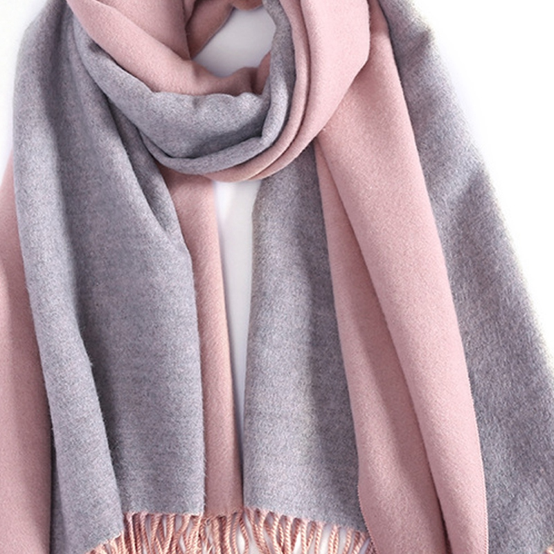 Cashmere Scarf Ladies Shawl Scarf Blanket Solid Color