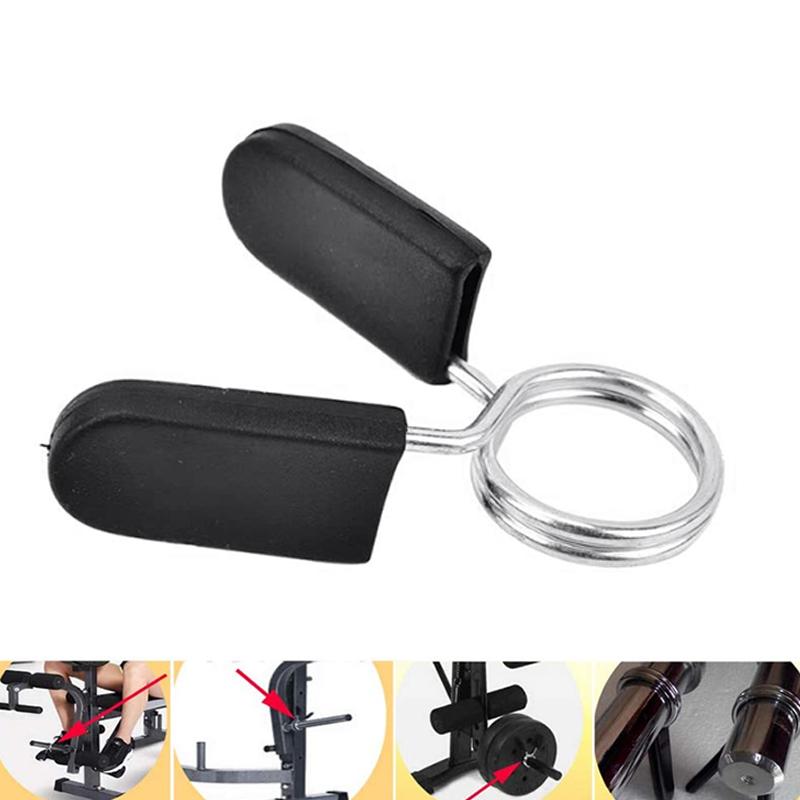 4 Pack Hantel Feder Kragen ÜBung Lang Hantel Clip Clamps für Gewicht Hante E4Y9