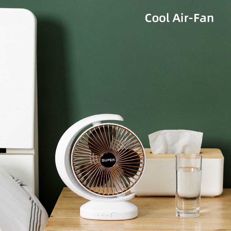 Ventilateur-Rechargeable-Ventilateur-eLectrique-de-Bureau-USB-Mini-Ventilat-K3Q9 miniature 6