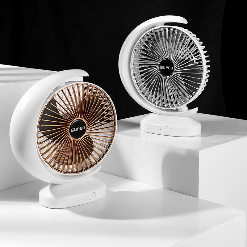 Ventilateur-Rechargeable-Ventilateur-eLectrique-de-Bureau-USB-Mini-Ventilat-K3Q9 miniature 7