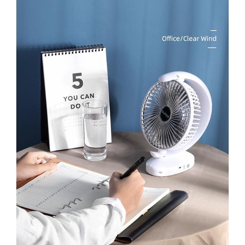 Ventilateur-Rechargeable-Ventilateur-eLectrique-de-Bureau-USB-Mini-Ventilat-K3Q9 miniature 11