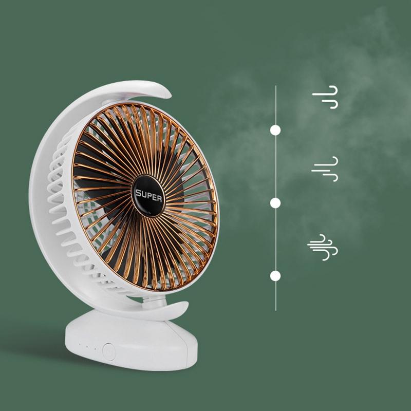 Ventilateur-Rechargeable-Ventilateur-eLectrique-de-Bureau-USB-Mini-Ventilat-K3Q9 miniature 13