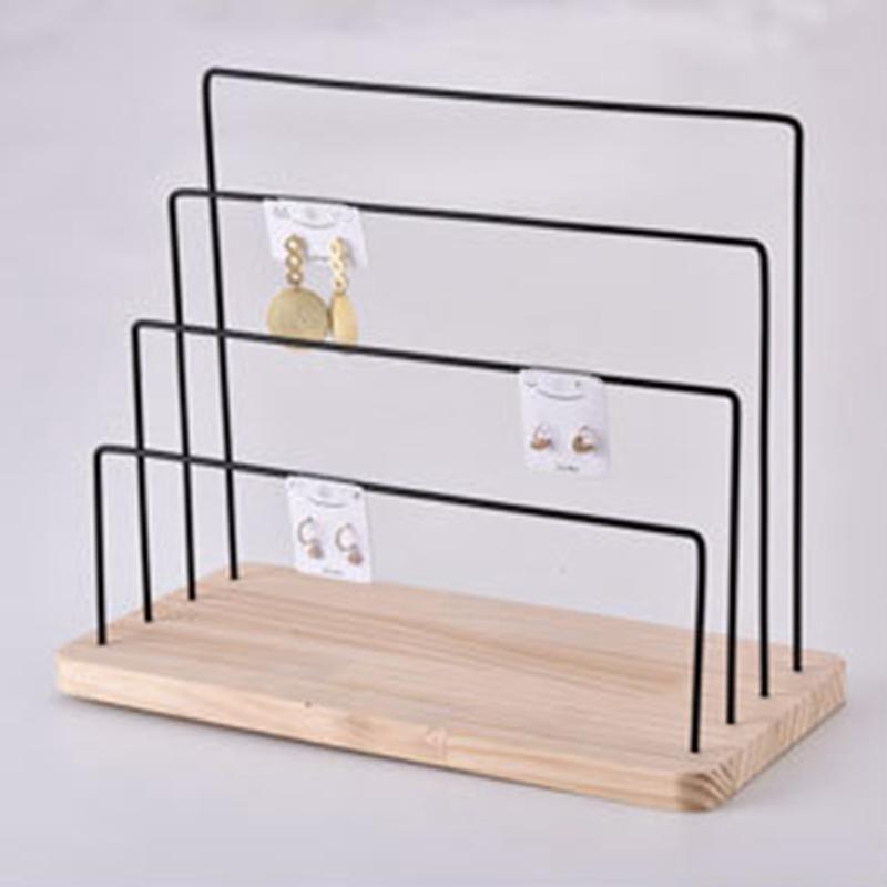 Indexbild 6 - 1X(Holzschmuck Display Stand Metall Haken Ohrringe Halskette Lagerregal N7P5)